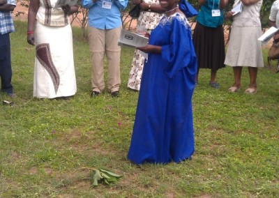 Elizabeth Amoah Leading an African Prayer during Opening Ceremony -2012 Consultation
