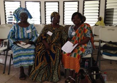 L to R - Mercy Amba Oduyoye (Ghana),  Antoinette Yindjara (Central African Republic), Elizabeth Amoah (Ghana) at Breaktime