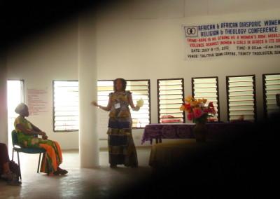 Liberian Participant Leads Plenary