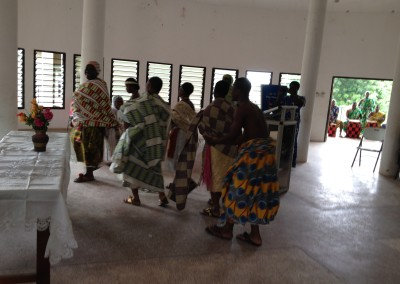 Opening Ceremony - Queen Mothers of Ghana Enter Conference Hall - Abibigromma Dancers in Background