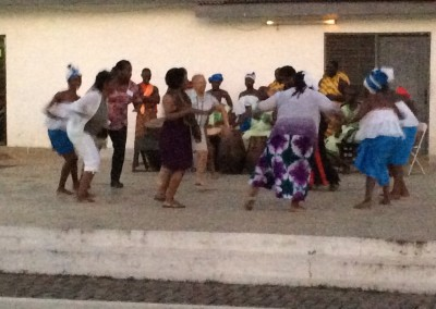 Participants Dance with Abibigromma Performers during Closing Ceremony