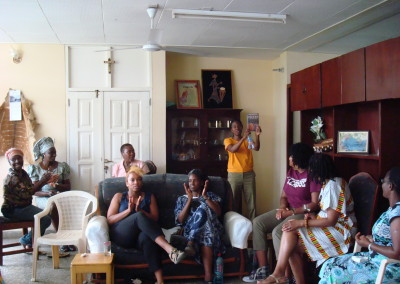 Participants Relax after Conference  at Home of Ghanaian Professor