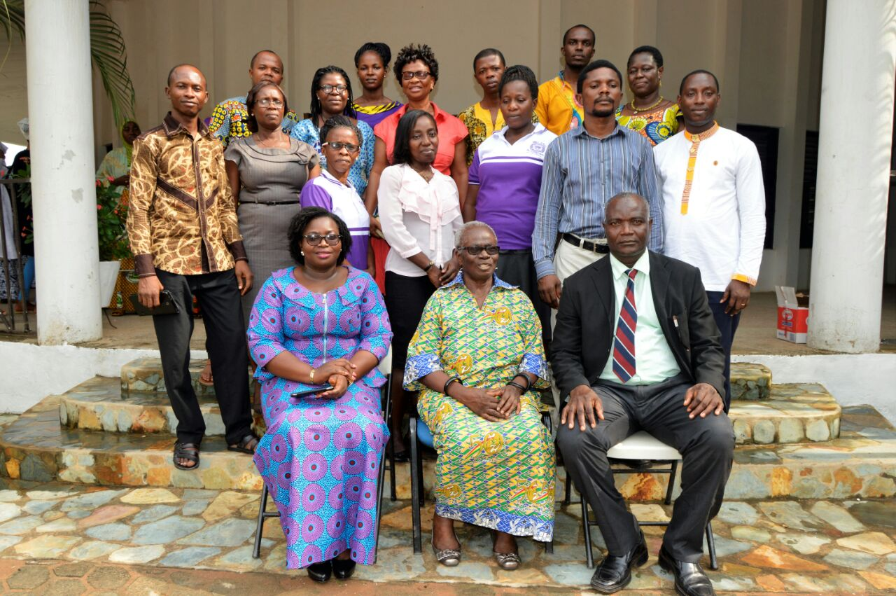Leaders with Student Participants from Trinity Theological Seminary, Mercy Oduyoye (center front)