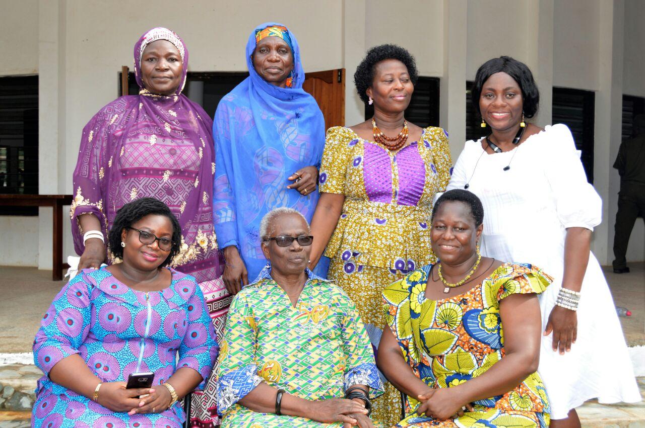 (f, l-r, EC rep, Oduyoye, Amenga-E, b, l-r, Hajia Fair, F Sulemanu, Sylvia Ansa, Boham